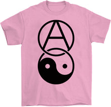 Load image into Gallery viewer, anarchy yin yang shirt by palm treat in pink