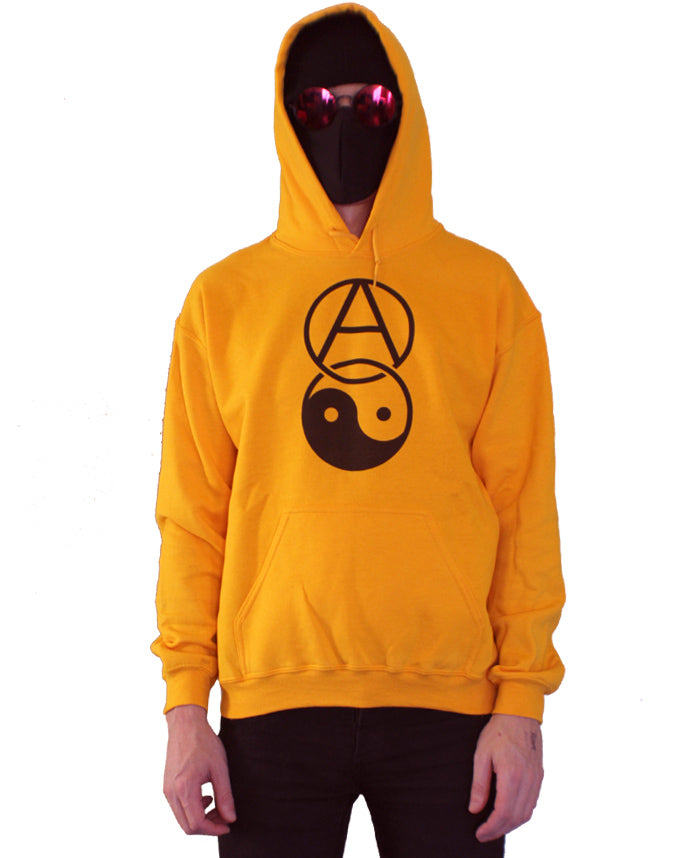 Anarchy and Yin Yang Hoodie by palm-treat.myshopify.com for sale online now - the latest Vaporwave & Soft Grunge Clothing