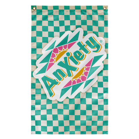 Anxiety arizona iced tea wall tapestry flag poster design by palm treat