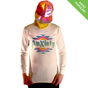 Anxiety Long Sleeve by palm-treat.myshopify.com for sale online now - the latest Vaporwave & Soft Grunge Clothing