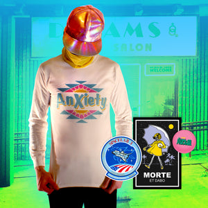 Anxiety Long Sleeve - Small by palm-treat.myshopify.com for sale online now - the latest Vaporwave & Soft Grunge Clothing