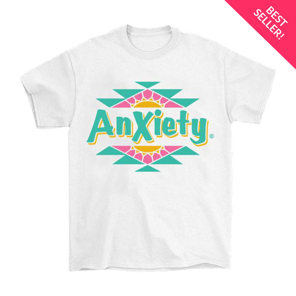 Anxiety T-Shirt by palm-treat.myshopify.com for sale online now - the latest Vaporwave & Soft Grunge Clothing
