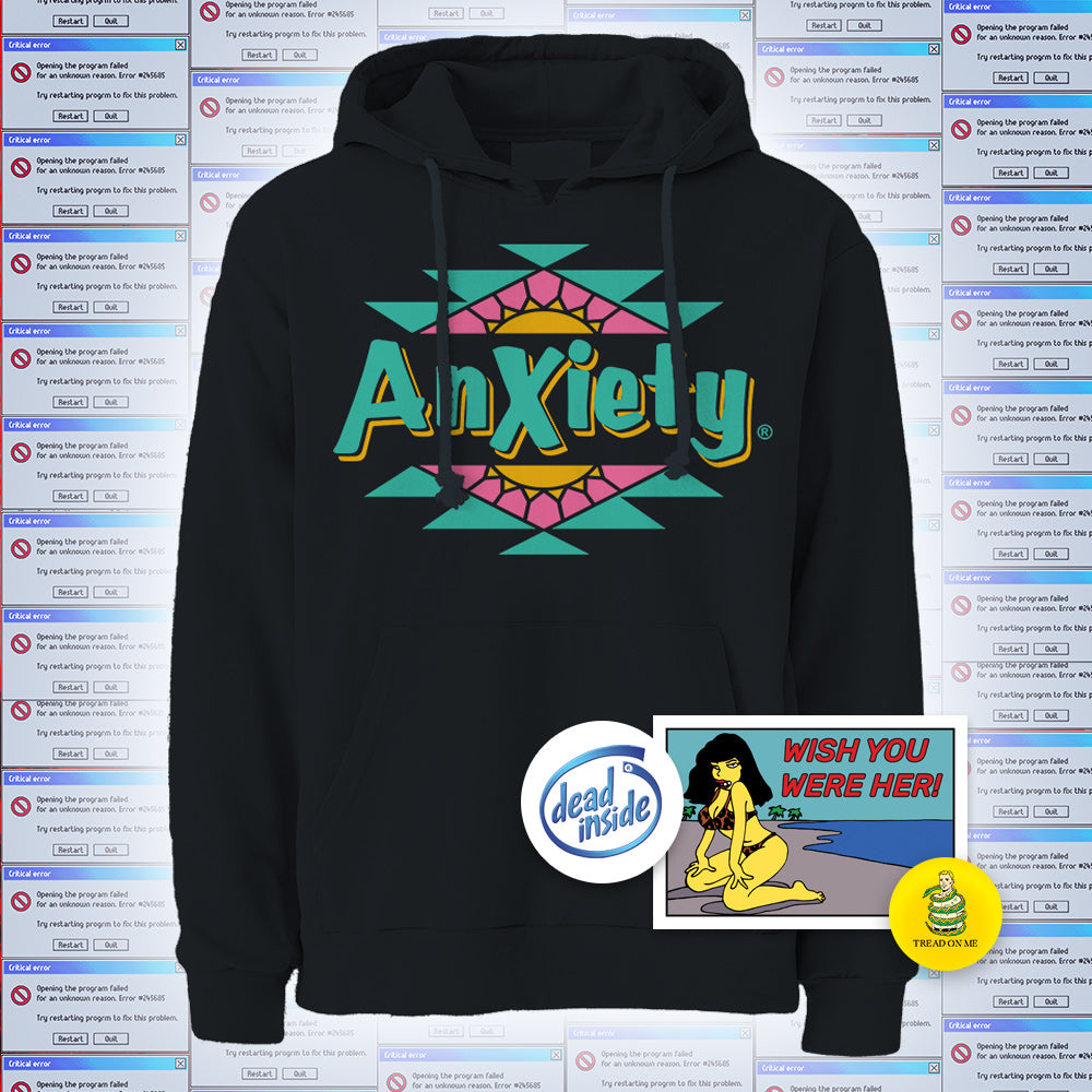 Anxiety Hoodie - XL
