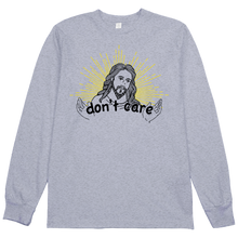 Load image into Gallery viewer, Starburst Jesus Don't Care L/S Tee
