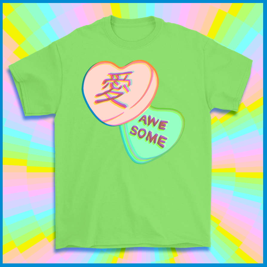 Kawaii Awesome Valentine T-shirt