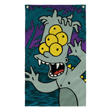 bart simpson pop art jungle creature from the black lagoon flag