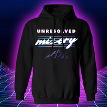 Load image into Gallery viewer, Unresolved Misery Hooded Sweatshirt (Hoodie) Black