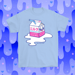 Kawaii Spilled Milk T-Shirt Blue