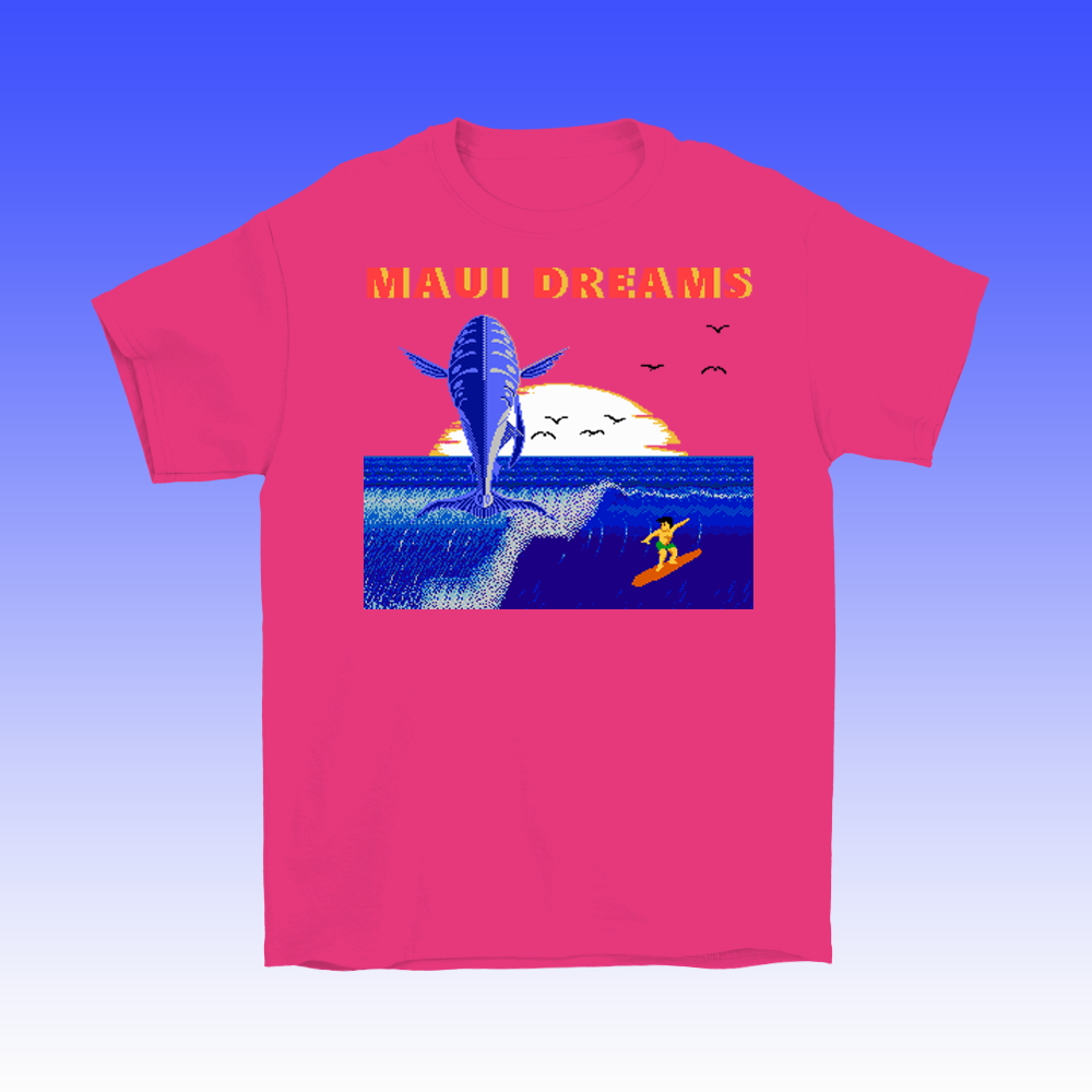 8-bit Stories Maui Dreams T-shirt by palm-treat.myshopify.com for sale online now - the latest Vaporwave & Soft Grunge Clothing