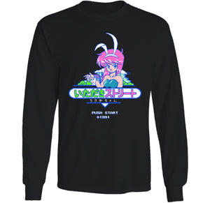 Push Start Bunny Long Sleeve by palm-treat.myshopify.com for sale online now - the latest Vaporwave & Soft Grunge Clothing