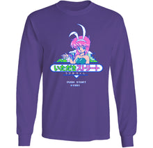 Load image into Gallery viewer, Push Start Bunny Long Sleeve by palm-treat.myshopify.com for sale online now - the latest Vaporwave & Soft Grunge Clothing