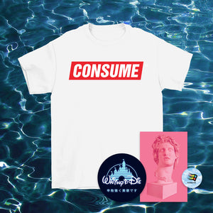 Consume T-Shirt White - 3XL by palm-treat.myshopify.com for sale online now - the latest Vaporwave & Soft Grunge Clothing
