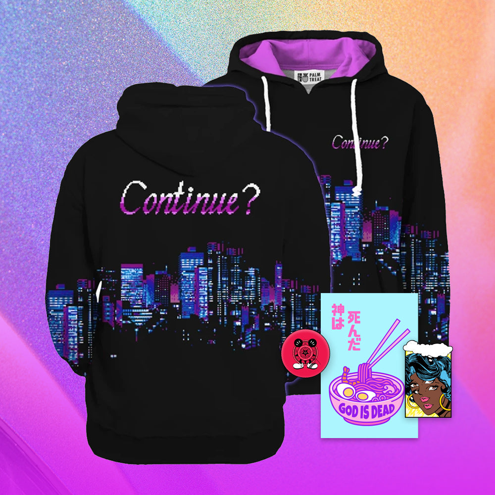 Continue All Over Hoodie - Small