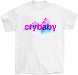vaporwave cry baby water bottle t-shirt