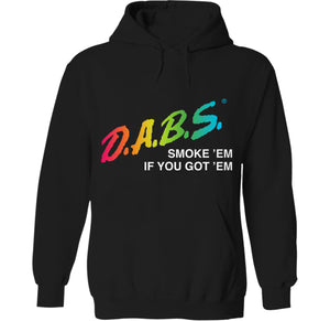 smoking dabs and marijuana blunts dare 90s hoodie by palm treat