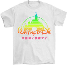 Load image into Gallery viewer, Waiting Aesthetic T-Shirt by palm-treat.myshopify.com for sale online now - the latest Vaporwave & Soft Grunge Clothing