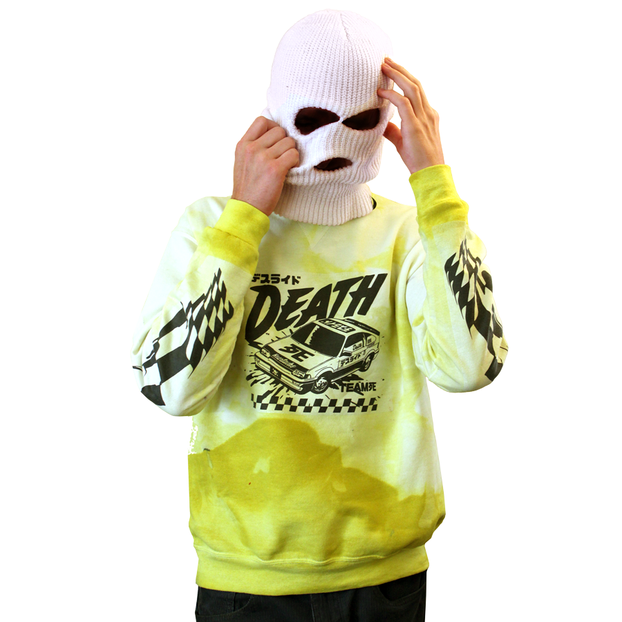 Death Race Yellow Marbled Medium Jumper