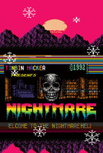 Load image into Gallery viewer, deathwave nightmare poster vaporwave neon