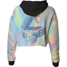 Load image into Gallery viewer, Deep Web Crop Top Hoodie