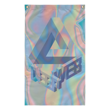Load image into Gallery viewer, holographic vaporwave 3-d deep web internet tumblr flag design by Palm Treat