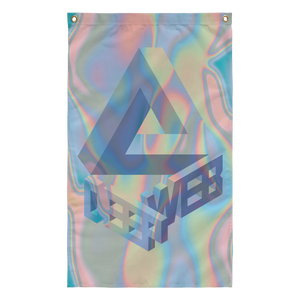 holographic vaporwave 3-d deep web internet tumblr flag design by Palm Treat