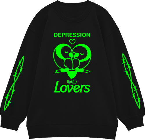 Depression is for Lovers Neon Jumper
