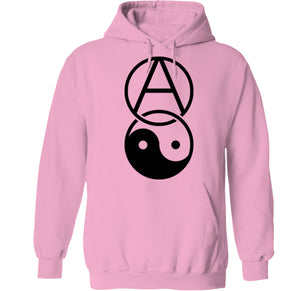 Girl power feminist hoodie pink yin yang anarchy punk clothing