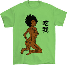 Load image into Gallery viewer, sexy vaporwave naked girl shirt black