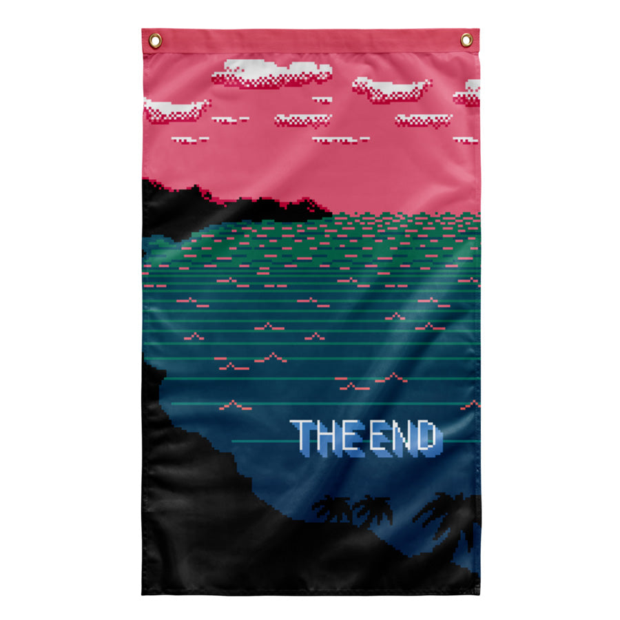 The End Tapestry by palm-treat.myshopify.com for sale online now - the latest Vaporwave & Soft Grunge Clothing