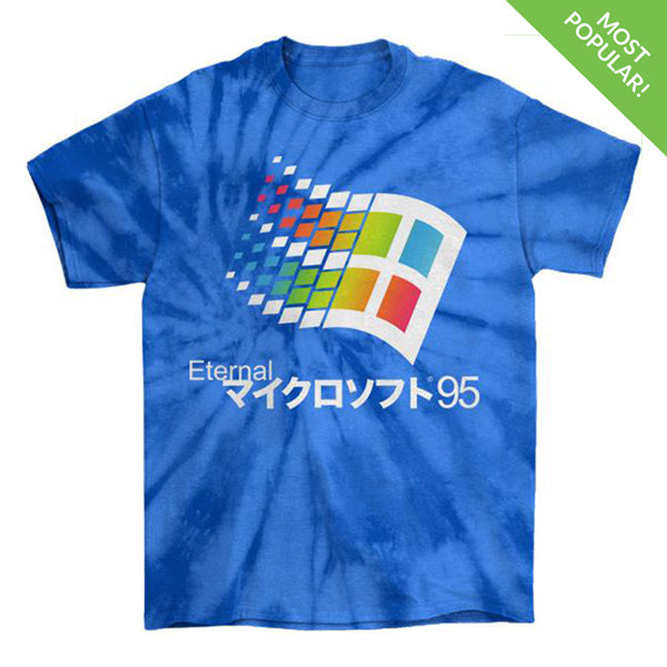 Eternal 95 Tie Die T-Shirt by palm-treat.myshopify.com for sale online now - the latest Vaporwave & Soft Grunge Clothing