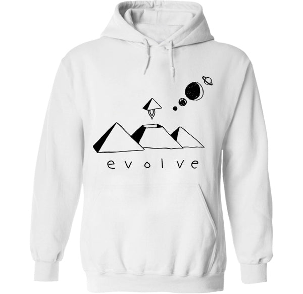 Evolve pyramid ufo ancient aliens hoodie by palm treat