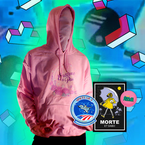 Existence is Pain Hoodie - Large by palm-treat.myshopify.com for sale online now - the latest Vaporwave & Soft Grunge Clothing