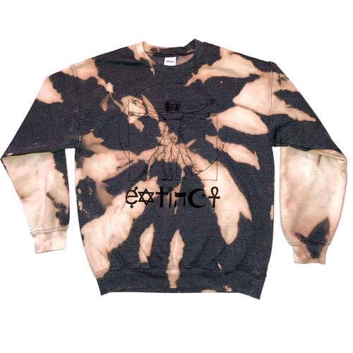 Hand Bleached Extinct Crewneck Jumper