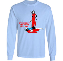 Load image into Gallery viewer, everybody you know is dead long sleeve ninja shirt by palm treat