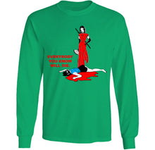Load image into Gallery viewer, everybody you know will die green long sleeve by palm treat