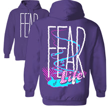 Load image into Gallery viewer, fear of life vaporwave hoodie