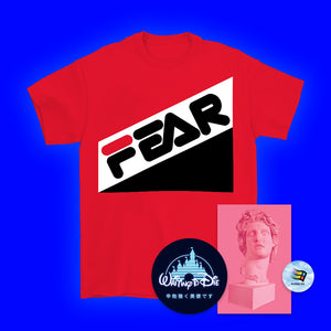 Fear Red T-Shirt - Medium by palm-treat.myshopify.com for sale online now - the latest Vaporwave & Soft Grunge Clothing