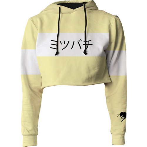 Honey Bee Crop Top Hoodie