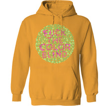Load image into Gallery viewer, fuck the color blind chart hoodie in yellow by palm treat