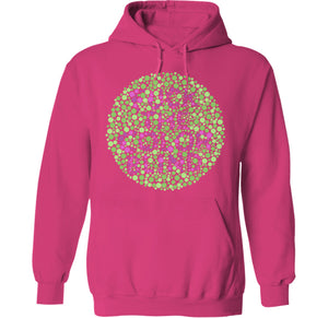 fuck the color blind pink hoodie by palm treat