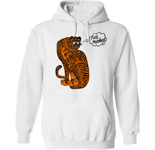 Load image into Gallery viewer, fuck mondays fat numi cat hoodie by palm treat