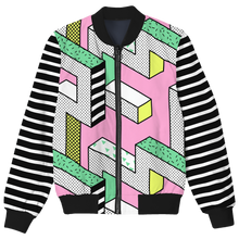 Load image into Gallery viewer, Pastel Geometrica Bomber Jacket