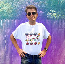 Load image into Gallery viewer, get fresh 8-bit kawaii sushi shirt for sale online by Palm Treat