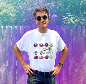get fresh 8-bit kawaii sushi shirt for sale online by Palm Treat