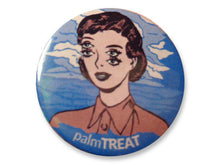Load image into Gallery viewer, Vintage classic woman pin feminist punk pin palm treat marie nolan