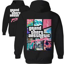 Load image into Gallery viewer, grand theft aesthetic vaporwave hoodie