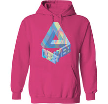Load image into Gallery viewer, holographic vaporwave hoodie design by palm treat