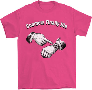Boomers Finally Die T-Shirt by palm-treat.myshopify.com for sale online now - the latest Vaporwave & Soft Grunge Clothing