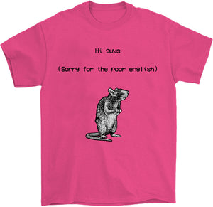 Sorry for the poor english T-Shirt by palm-treat.myshopify.com for sale online now - the latest Vaporwave & Soft Grunge Clothing