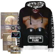 "Load image into Gallery viewer, PRESALE: Diskette Park ""Curve Sequences"" Hoodie Pack"